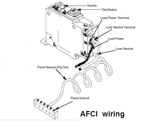 handymanwire afci arc fault circuit interrupters rh handymanwire com Combination AFCI GFCI Circuit Breakers arc fault breaker wiring diagram