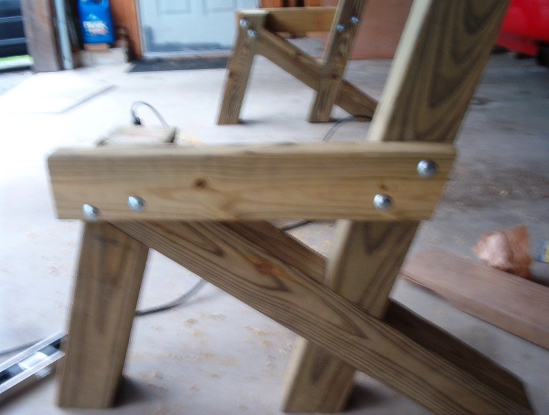 to the desired length. A 7 foot bench looks good, but an 8 foot bench