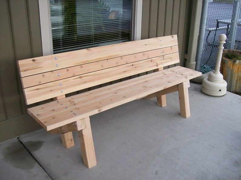 Garden Bench Plans Metric Diywoodplans